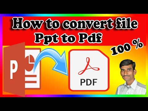 Convert Powerpoint To Pdf | Convert Ppt File In Pdf |ppt Ko Pdf Me Convert Kaise Kare |