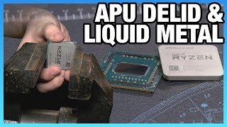 Delidding AMD's R3 2200G APU & Liquid Metal (Pt. 1/2)