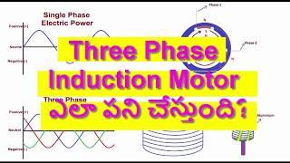 18: Three Phase Induction Motor ఎలా పనిచేస్తుంది? || How Does a Three Phase Induction Motor work?