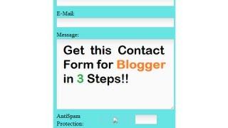 كيفية إنشاء نموذج الاتصال في بلوق مدون في 3 خطوات