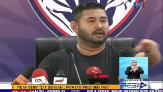 BOLA SEPAK -TMJ TIDAK BERMINAT JAWATAN PRESIDEN FAM [23 JUL 2015]