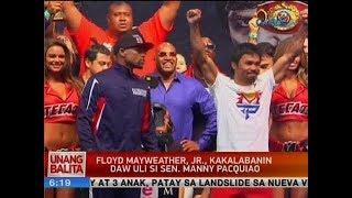 UB: Floyd Mayweather, Jr., kakalabanin daw uli si Sen. Manny Pacquiao