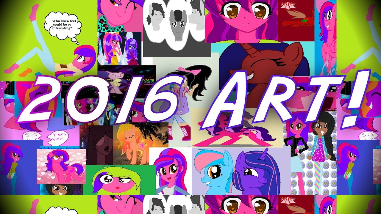 2016 Art, Collabs, and Collages - YouTube