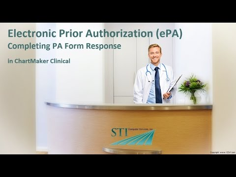 Epa Completing An Electronic Prior Authorization Form  Youtube