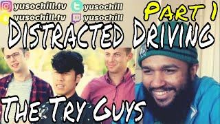The Try Guys - Distracted Driving (Part 1) | Reaction