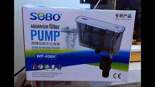 #79 Đánh giá nhanh máy lọc nước Sobo WP-408H, ngon bổ rẻ dành cho bể cá nhỏ