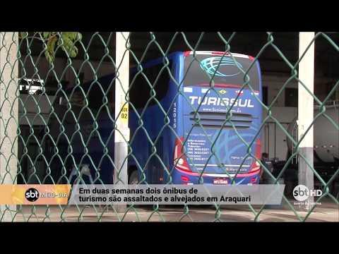 Ônibus de comerciantes de Tubarão é assaltado no norte do estado