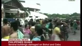 earthquake a powerful 7 1 eq rocks the island of bohol in the philippine islands oct 15 2013