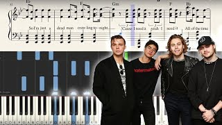 """""""Youngblood"""" - Synthesia Piano Tutorial + Sheets - 5SOS   George Vidal"""