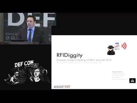 DEF CON 23 (2015) - RFIDiggity - Pentester Guide to Hacking HF/NFC and UHF RFID - 09Aug2015