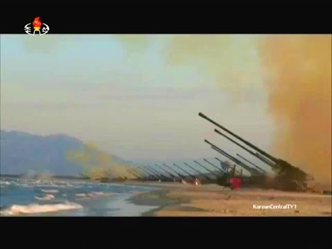 KCTV - North Korea Artillery & Rockets Firepower Full Demonstration [480p]