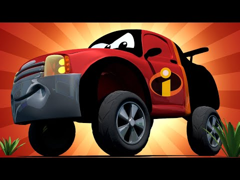 Special The Incredibles - Matt is Mister Incredible (pixar) Tom the Tow Truck's Paint Shop -