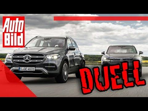 Duell hinter'm Deich: VW Touareg vs. Mercedes GLE (2019) - Auto - Test - Vergleich - Infos - Details
