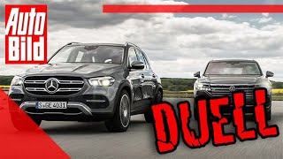 Duell hinterm Deich: VW Touareg vs. Mercedes GLE (2019) - Test - Vergleich - Infos - Details