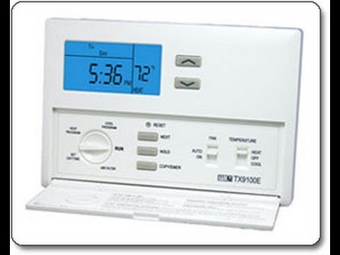 LUX TX9100E Heater/ AC thermostat installation video