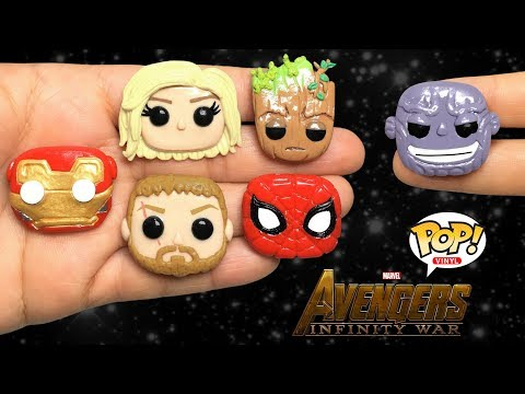 FUNKO POP! AVENGERS: INFINITY WAR! Stop Motion Polymer Clay Tutorial