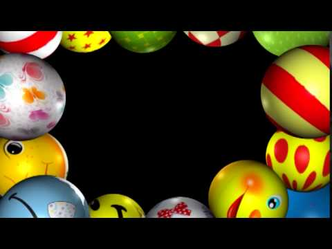 Футаж Рамка детские мячи