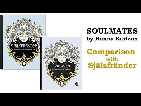 'Soulmates' Vs 'Själsfränder' Coloring Book  (Comparison Between Dutch And Swedish Editions)