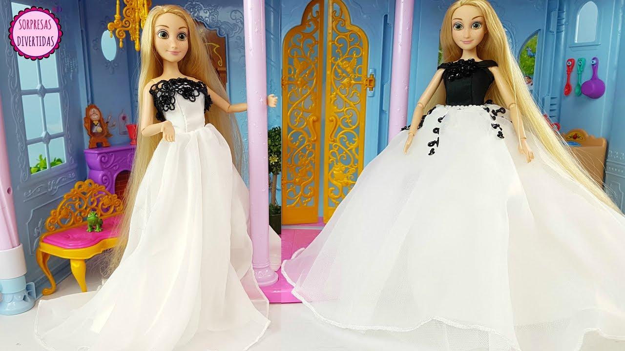 746899b24 Rapunzel elige vestido para su boda - Vestidos para muñecas Barbie y  Princesas Disney juguetes