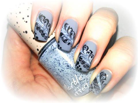 Дизайн ногтей Розы по мокрому гель-лаку
