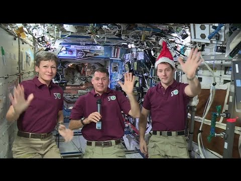 Thomas Pesquet and Expedition 50 space Christmas message