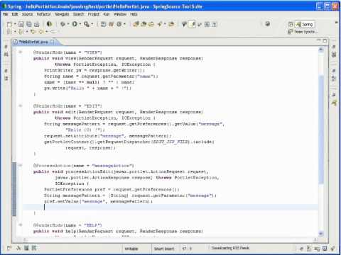"""Portlet 2.0 Modes """"Edit & Help"""""""