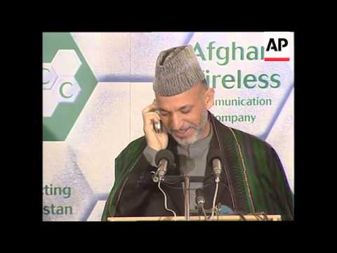 First mobile telephone network launched in Afghanistan