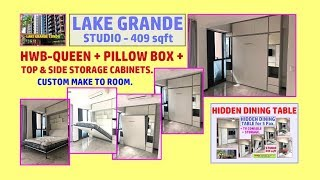 Lake Grande.Hidden Wall Bed. HWB-Queen+Pillow Box+Hidden Dining Table+TV Wall.HWB HUB.HDB.BTO.EC