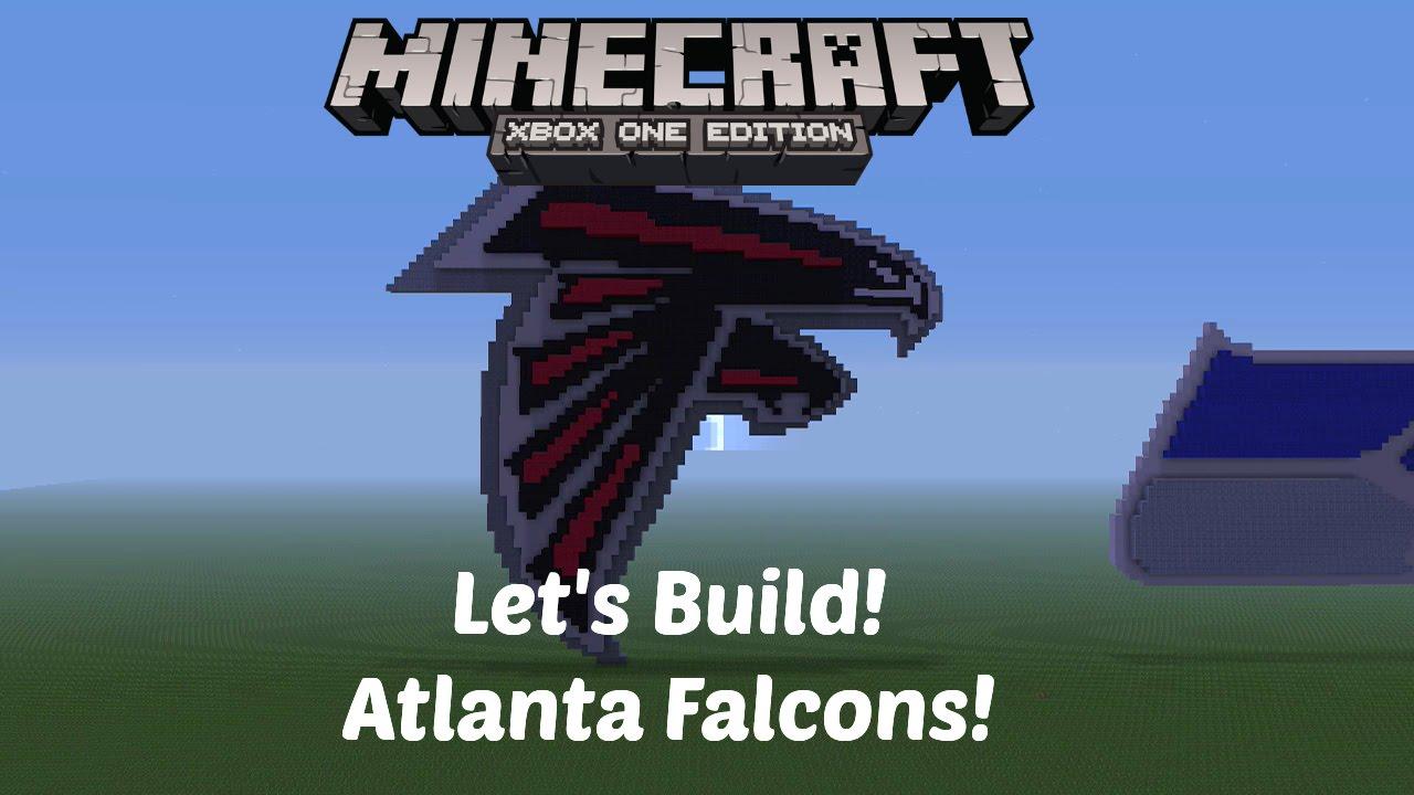 Minecraft Lets Build Nfl Logos Atlanta Falcons Xbox One Hd