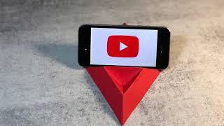 Как сделать подставку для телефона из бумаги своими руками.how to make a phone stand.