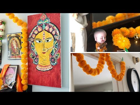 SIMPLE HOME DECORATION IDEAS WITH MARIGOLD FLOWERS || FESTIVAL FLOWER DECORATION