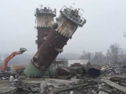 Evonik Abriss ACN-Reaktor 2011 - Abbruch Landwehr