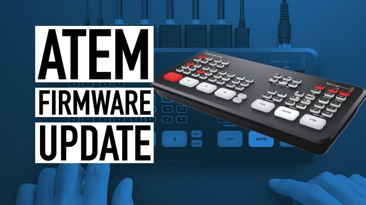 Atem Mini 8 5 1 Firmware Update Youtube