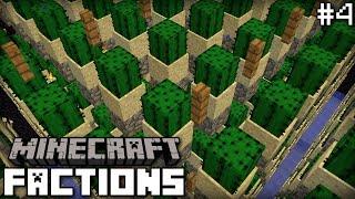 Minecraft Factions #4 - AUTOMATIC CACTUS FARM - play.buzzplex.net