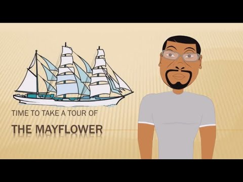 Tour of the Mayflower (Thanksgiving for Kids) Educational Videos for Students (Cartoon)