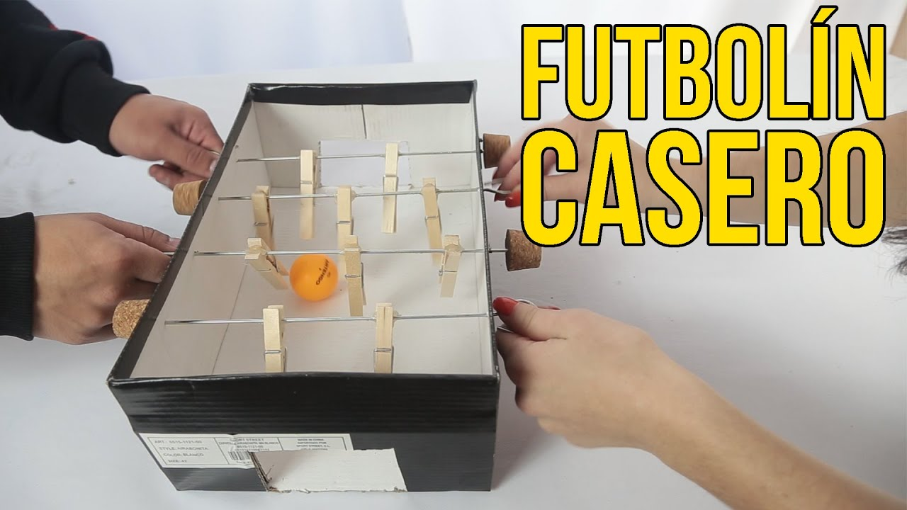 C mo hacer un futbol n casero con una caja de zapatos - Futbolines para casa ...