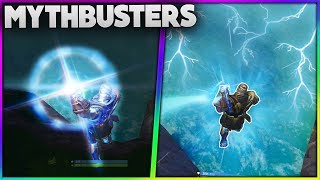 Whats Happens When Thanos Jumps Off The Map!? | Thanos Use The Crystals? | Fortnite Mythbusters [20]
