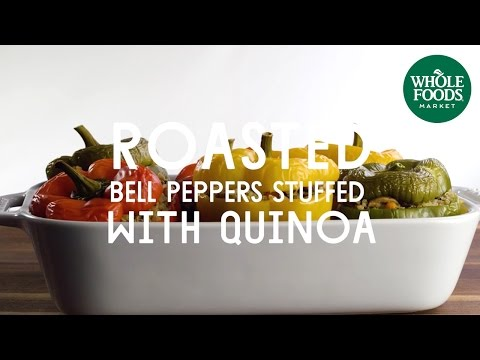 Roasted Bell Peppers Stuffed with Quinoa | Special Diet Recipes | Whole Foods Market