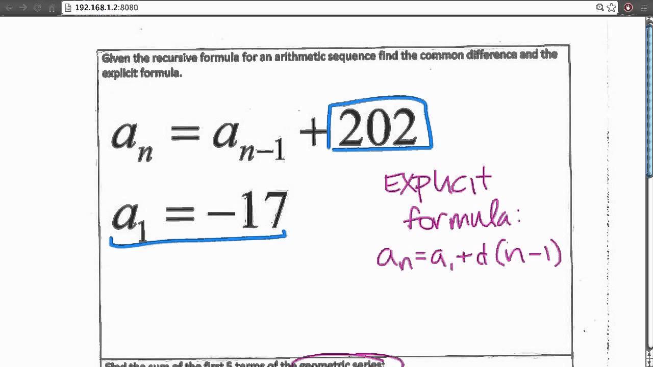 Arithmetic Sequences: Explicit Formula - YouTube