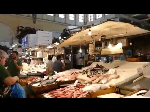 A Walk thru the Fish Market of Varvakios Agora in Athens, Greece