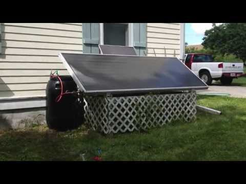 Solar Hot Water Tinkering - 10'x4' panel and El-SID Pump