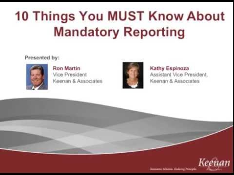 Child Abuse Prevention -- 10 Things You Must Know About Mandatory Reporting
