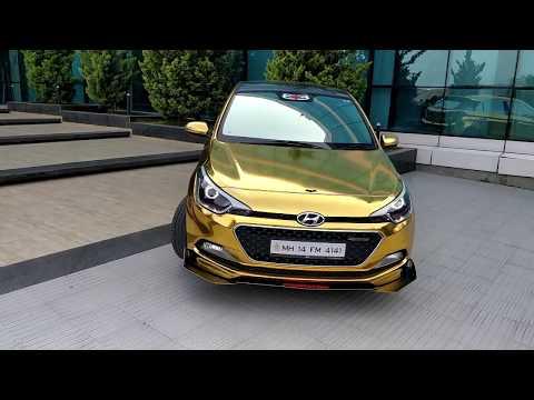 HUYNDAI I20 Modified  Universal Bodykit   Gold Chrome Full Body Car Wrap   PREDATORKIT