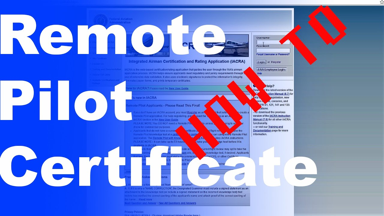 5 Mins How To Get Your Remote Pilot Operating Certificate Part