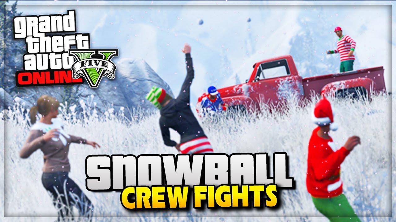 GTA 5 Christmas DLC - Snowball Fights & Snow GTA Online! - (GTA V ...