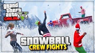 GTA 5 Christmas DLC - Snowball Fights & Snow GTA Online! - (GTA V Gameplay)