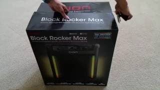 Unboxing New & Latest Release ION Block Rocker MAX Bluetooth BOOM BOX w/LEDs 2016
