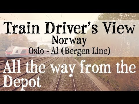 Train  Driver's View: Oslo to Ål