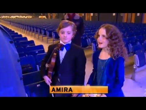 André Rieu - Masterclass for Amira Willighagen and brother Fincent - 7 December 2013