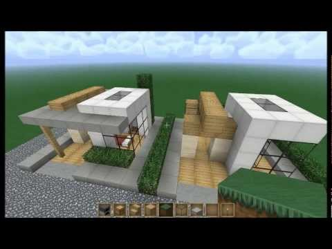 Minecraft let 39 s build 6x6 modern house 1 youtube for Modern house 6x6